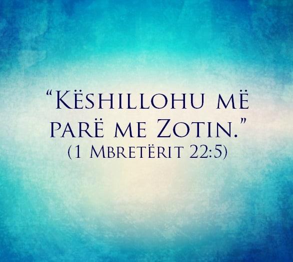 Keshillohu me pare me Zotin